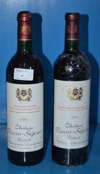 Lot 2 Btles: 1 Château BEAU-SEJOUR BECOT...