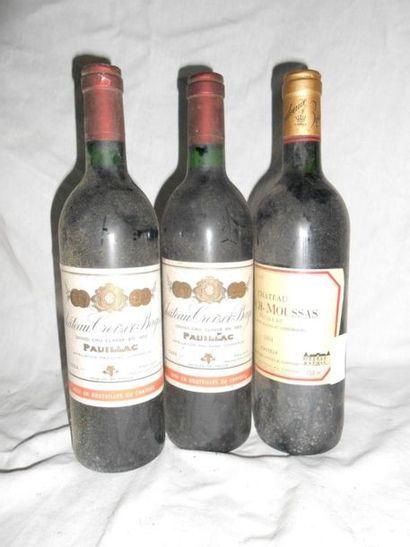 2 CHÂTEAU CROIZET BAGES 1984 + 1 Château...