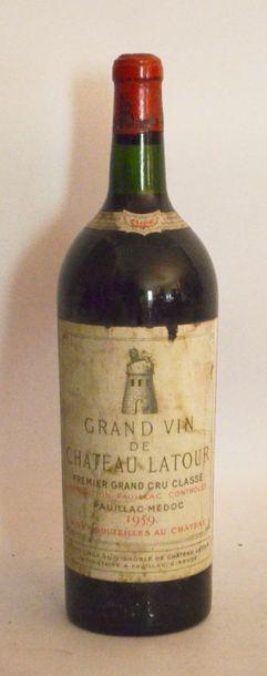 1 Magnum, Château LATOUR 1959. étiquette...