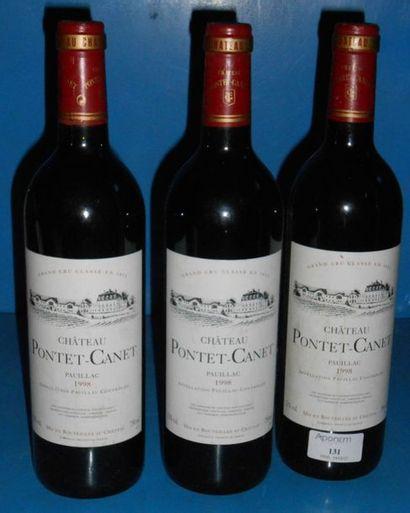 3 château PONTET CANET - 5ème GCC 1998