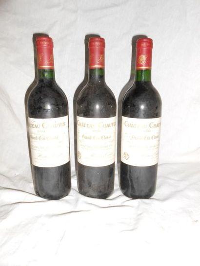 3 CHÂTEAU CHAUVIN 1990 - SAINT EMILION
