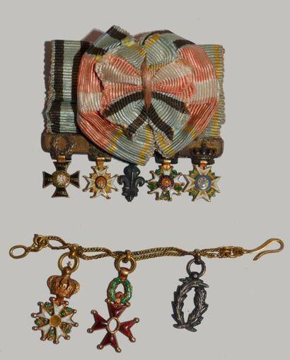 Lot de 2 barrettes miniatures :