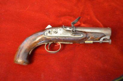 Pistolet britannique, à silex.