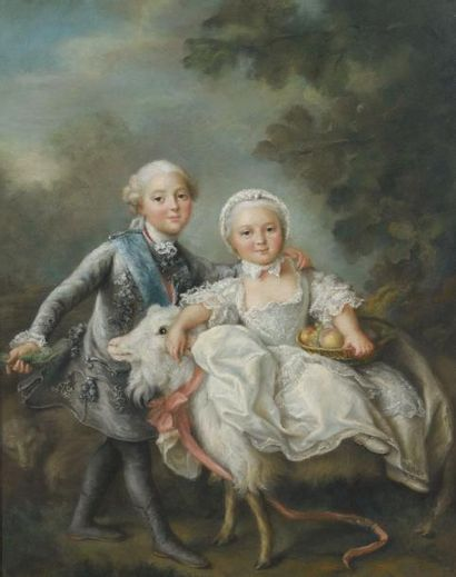 ECOLE FRANCAISE d'après François HUBERT DROUAIS (1727 - 1775)