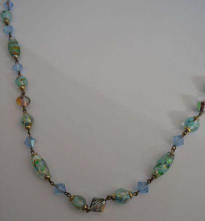 COLLIER fantaisie de perles de verres à ...