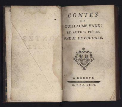 VOLTAIRE. Contes de Guillaume Vadé et autres...