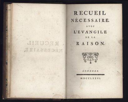 [VOLTAIRE] Recueil nécessaire avec l'Evangile...
