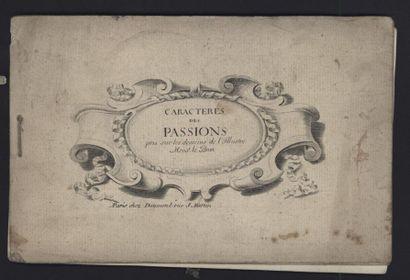 Caractères des Passions. Sd, broché, un faux-titre...