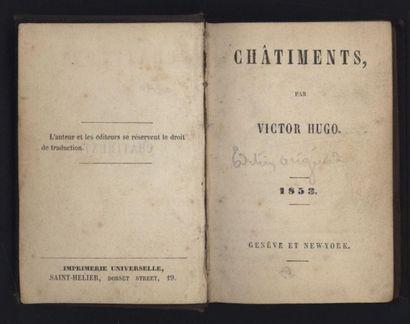 HUGO. Châtiments. Genève et New-York, 1853,...