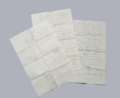 LAMARTINE Alphonse de (1790-1869).  Manuscrit...