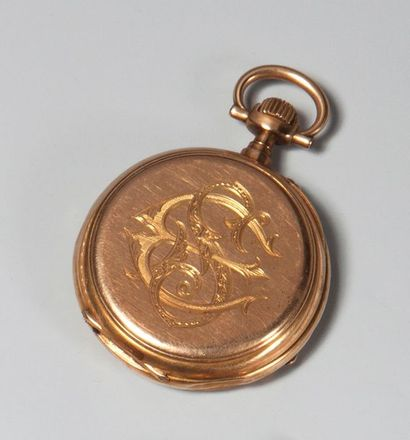 MONTRE DE POCHE en or. Horlogerie française...