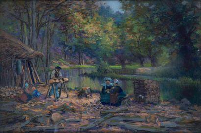 Mathurin JANSSAUD (1857-1940) Le Sabotier...