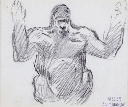 André MARGAT (1903-1997)  « Etude de buste...