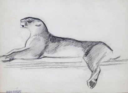 André MARGAT (1903-1997)  « Puma humant »...