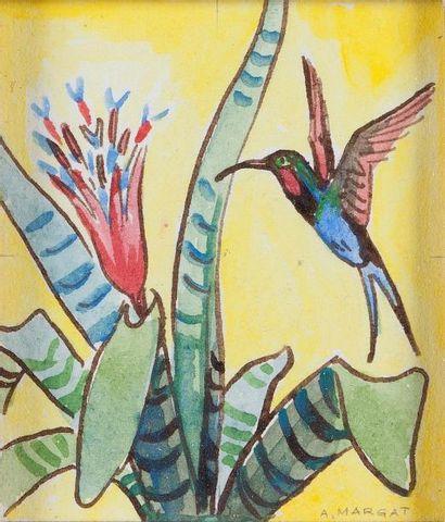 André MARGAT (1903-1997)  « Colibri en vol...
