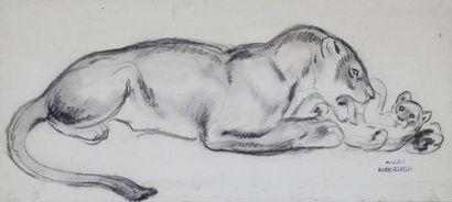 André MARGAT (1903-1997)  « Lionne et son...