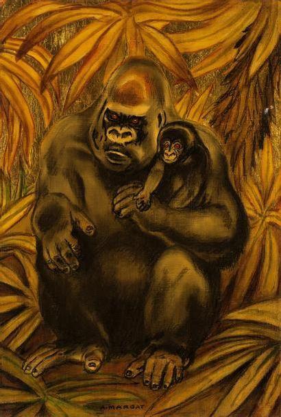 André MARGAT (1903-1997)  « Gorille et son...