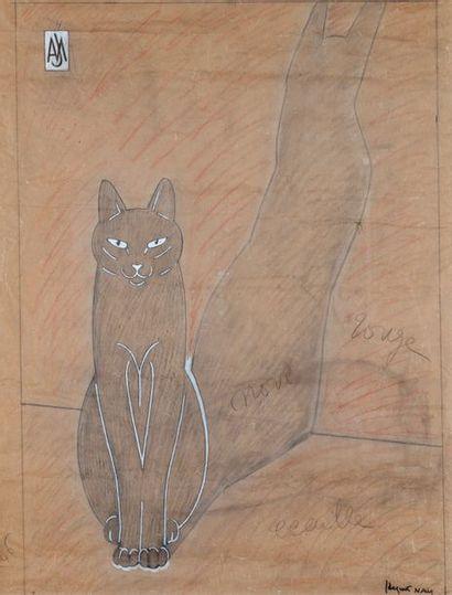 Jacques LEHMANN dit NAM (1881-1974)  « Chat...