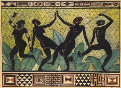 Jacques LEHMANN dit NAM (1881-1974)  « Danseuses...