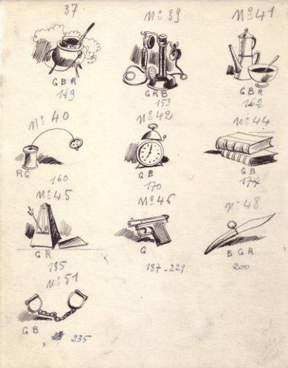 CULS DE LAMPES Trois pages (page 1 reproduite)...