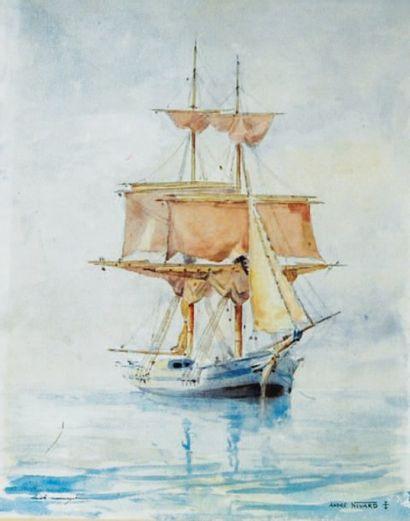 André Nivard (1880-1969, nommé Peintre officiel de la marine en 1914).