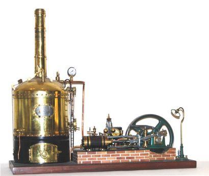 Machine à vapeur à double effet de R.Panssard....