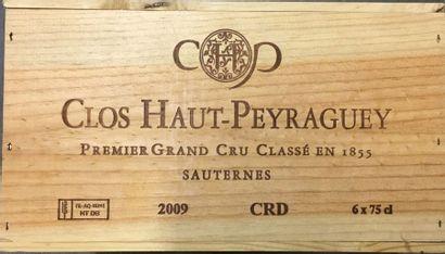 6 Btles de Sauternes château Clos Haut Peyraguey,...