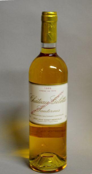 1 Bt SAUTERNE GILETTE crème de tête, 198...