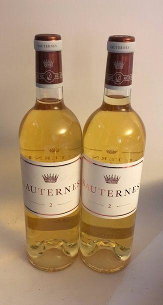 2 Bouteilles de Sauternes Mise en bouteille...