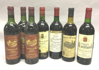 7 bouteilles Bordeaux divers