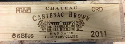 6 Btles de Margaux château Cantenac Brown,...