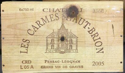 6 Btles de Pesac léognan château Carmes Ht...