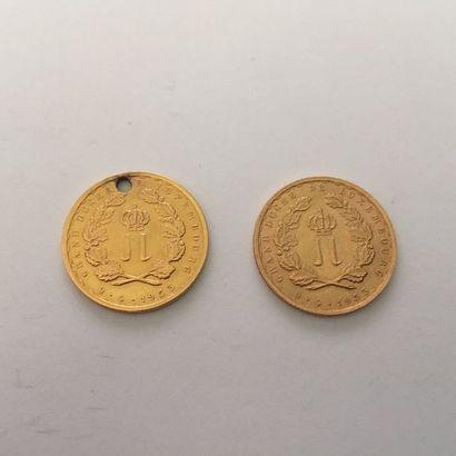 Deux Pièces en or commémorative, du Grand...