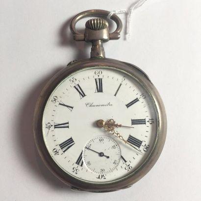 MONTRE GOUSSET chronomètre, cadran émaillé...