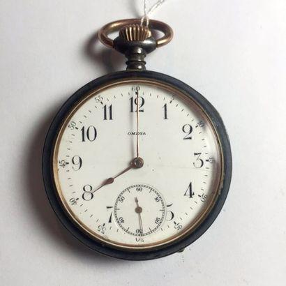 OMEGA. MONTRE de gousset chronometre en acier....