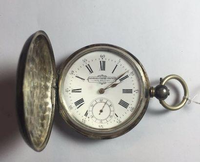 SAVONNETTE chronomètre en argent à coque...