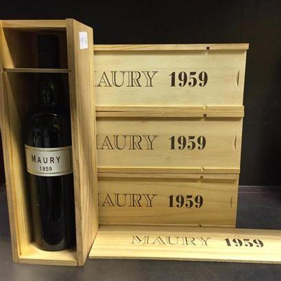 4 bouteilles de MAURY, 1959