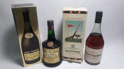 4 bouteille de COGNAC : 1 Salignac spécial,...