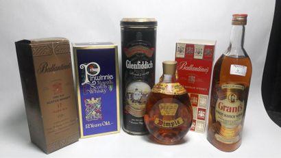 6 bouteilles de whisky : Ballantine's Very...
