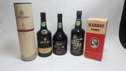 5 bouteilles de PORTO 75 cl : Croft / Harris...