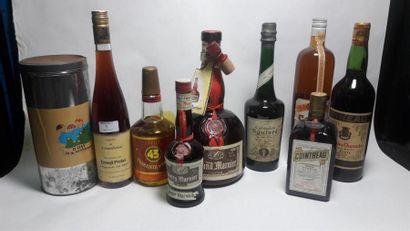 1 ensemble de 9 bouteilles d'alcool : Fine...