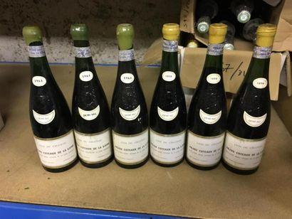 6 btls ANJOU coteaux de la Loire. Clos du...