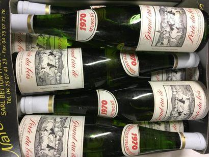15 bts de vins d'Alsace 1969 (x6) 1970 (x9),...