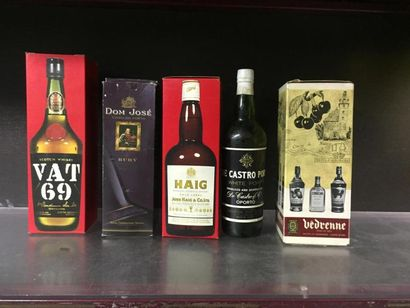 5 bts d'alcool: HAIG Scotch whisky, Porto...