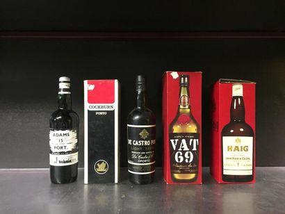5 bts d'alcool: Porto Adams 15, Porto Cockburn,...