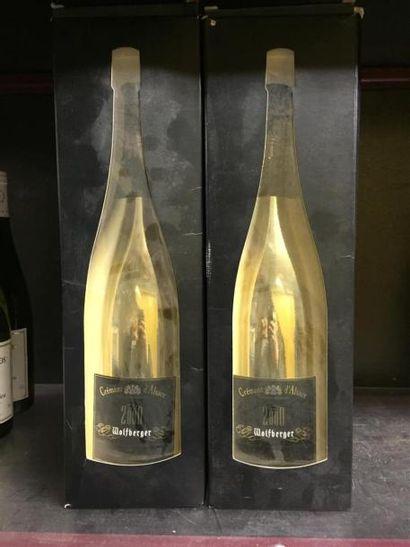 2 Magnums de Créments d'Alsace Wolfberger,...