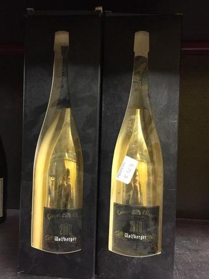 2 Magnums de Crément d'Alsace Wolfberger,...