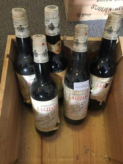 5 bouteilles de MANZANILLA La Gitana Vinicola...