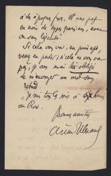 ALEXANDRE Arsène (1859-1937), critique d'art et Inspecteur Général des Musées français....