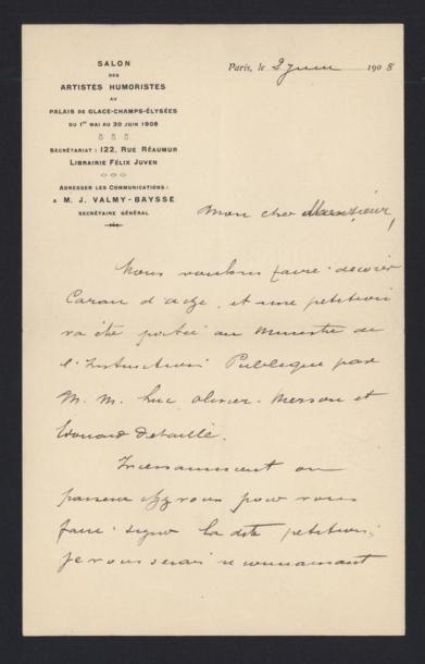 VALMY-BAYSSE Jean (1874-1962), écrivain....
